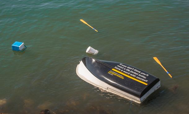 Overturned Boat at Cultus Lake