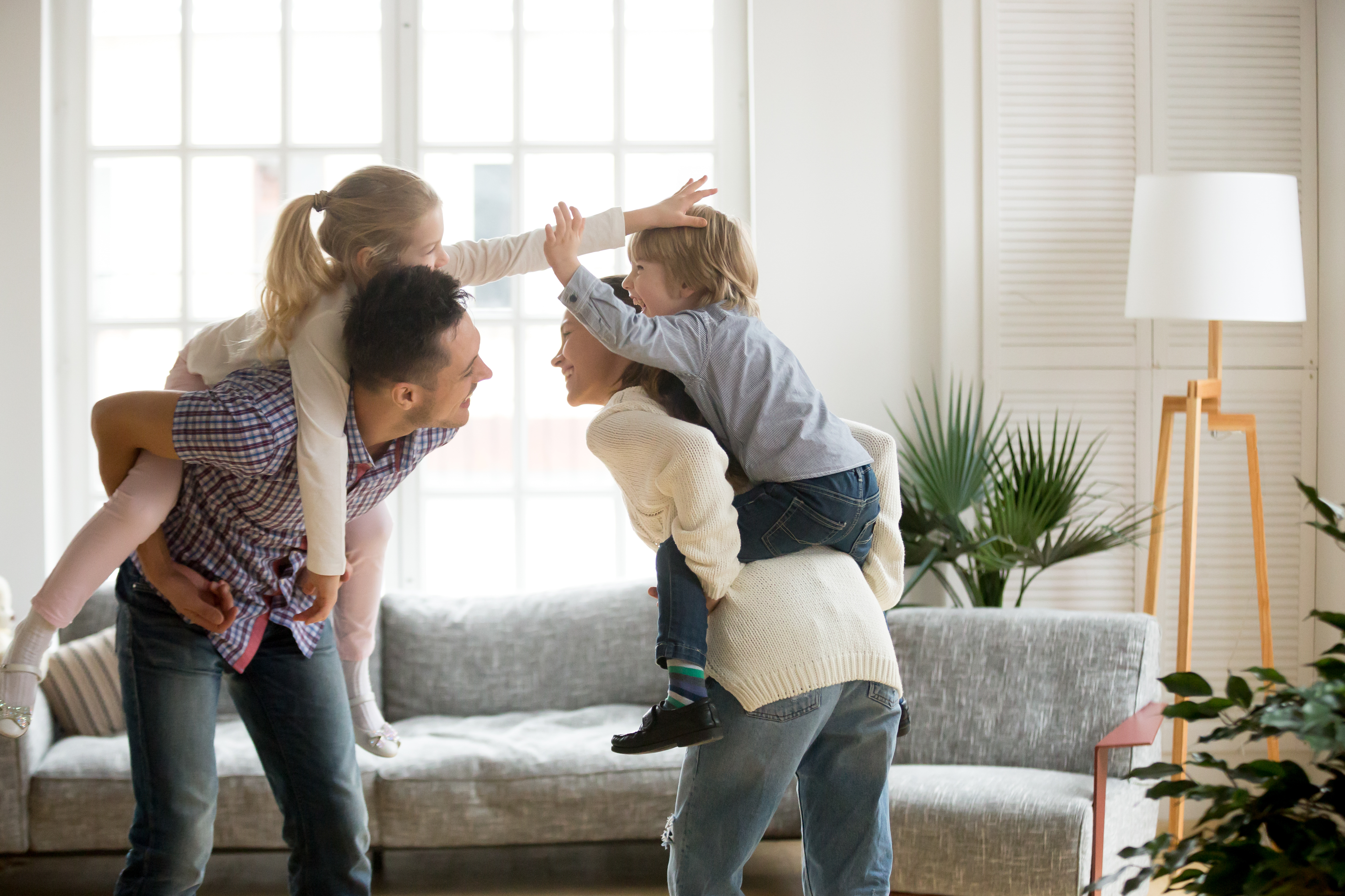 Spending more time and playing with the kids can be fun, but have a word with yourself about the risks of getting injured at home.
